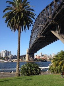 Harbour Bridge a v pozadí lunapark